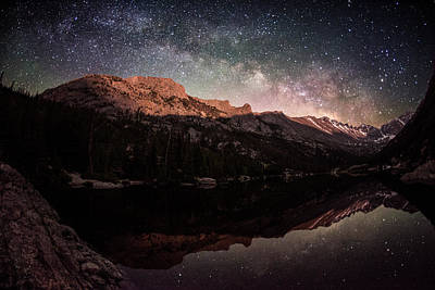 Photograph - Milky Way Rising Over Longs Peak by Mike Berenson / Colorado Captures