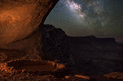 Copyright 2013 By Mike Berenson Photograph - Milky Way Skies From False Kiva by Mike Berenson