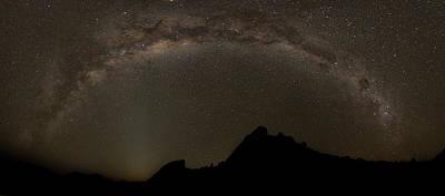 Milky Way Slashes Across The Night Sky Art Print by Robert Postma
