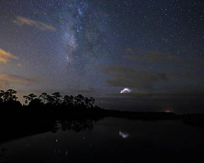Photograph - Milky Way Storm by Jean Clark