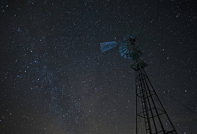 Photograph - Milky Way Windmill by Doug Davidson