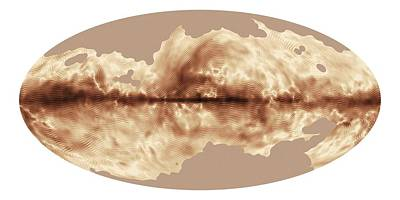 Milky Way's Magnetic Field Art Print by Esa Planck Collaboration