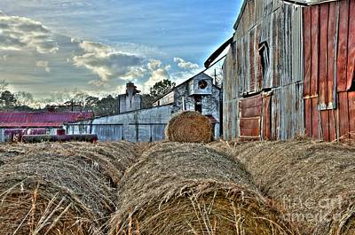 Photograph - Mill And Hay by Kim Wilson