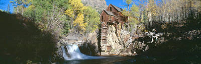 Mill At Crystal River Valley, Autumn Art Print