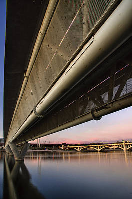 Photograph - Mill Avenue Bridge Abstract by Dave Dilli