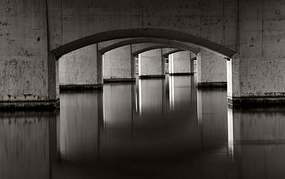 Photograph - Mill Avenue Bridge Reflections by Dave Dilli