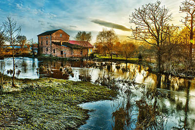 Spring Scenery Digital Art - Mill By The River by Jaroslaw Grudzinski