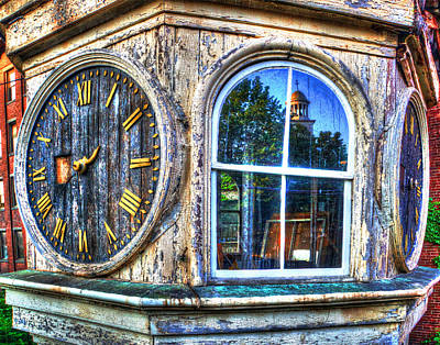 Photograph - Mill Clock 001 by Jeff Stallard