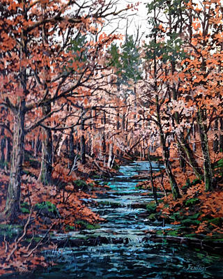Mill Creek Art Print by W  Scott Fenton