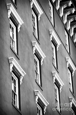 Old School House Photograph - Mill House Windows by John Rizzuto