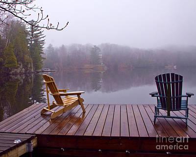Mill Lake Mist Art Print