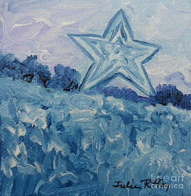Mill Mountain Star Art Print