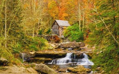 Mill On The Stream Art Print by Garland Johnson