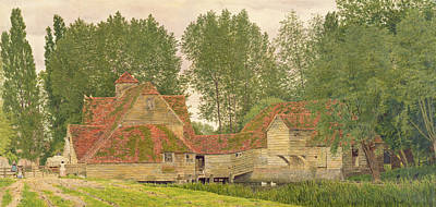 Dovecote Drawing - Mill On The Thames At Mapledurham, 1860 by George Price Boyce