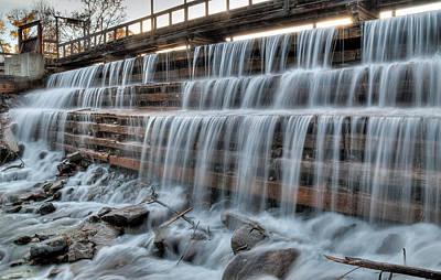 Photograph - Mill Pond Dam. Waba Creek by Rob Huntley