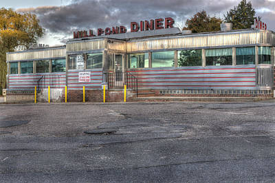 Photograph - Mill Pond Diner by Andrew Pacheco