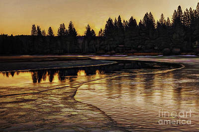 Mill Pond Freeze-d Art Print by Nancy Marie Ricketts