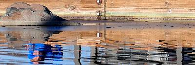 Jerry Sodorff Royalty-Free and Rights-Managed Images - Mill Pond Reflection 21701 by Jerry Sodorff