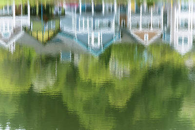 Mill Pond Reflects Extravagant Colour Art Print by Robert L. Potts