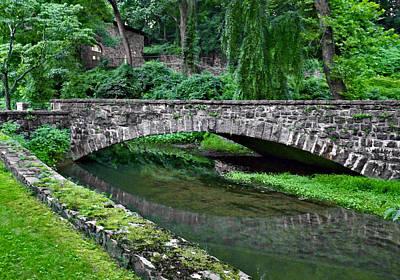 Photograph - Mill Race Bridge. Hagley Museum. by Chris  Kusik