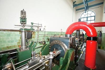Mill Steam Engine Art Print