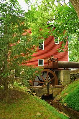 Photograph - Grist Mill Water Wheel by Bob Sample