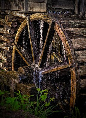 Mill Wheel Art Print by Dave Bosse