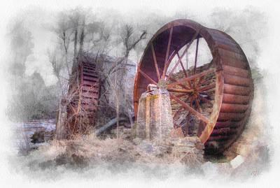 Mill Wheels Art Print by Rick Lloyd