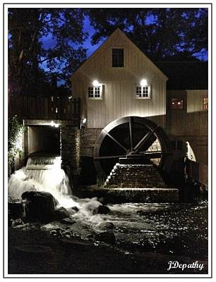 Jenny Grist Mill Photograph - Mill Works by Janet Depathy