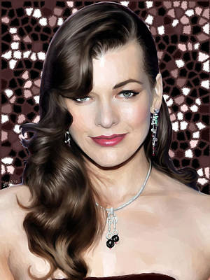 Painting - Milla Jovovich by Jennifer Hotai