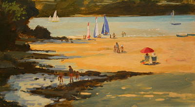 Contemporary Beach Painting - Millbay by Jennifer Wright