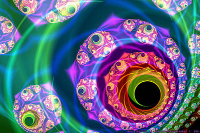 Millefiori Digital Art - Millefiori Apostrophi  by Ann Stretton