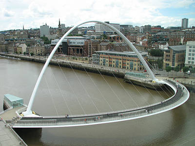 Photograph - Millennium Bridge Gateshead by Stephanie Grant