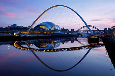 Photograph - Millenium Bridge Sundown by Stephen Taylor