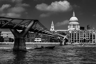 London Skyline Royalty-Free and Rights-Managed Images - Millenium bridge to St Pauls by Izzy Standbridge