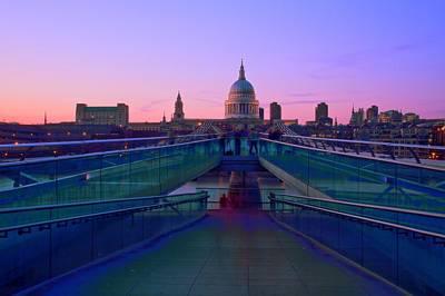 Millenium Thames Bridges  Art Print by David French