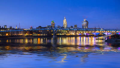 Millennium Bridge London Art Print by David French