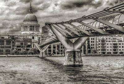 Millennium Bridge St. Paul's Cathedral London Art Print