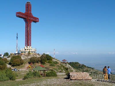 Photograph - Millennium Cross - Vodno Mountain - Skopje by Phil Banks
