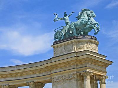 Millennium Monument Budapest Art Print by Ann Horn