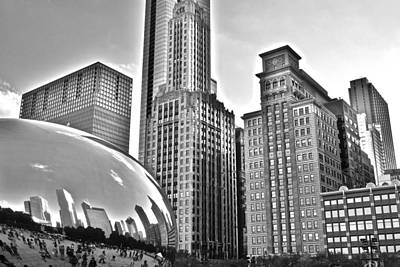 Photograph - Millennium Park In Black And White by Frozen in Time Fine Art Photography