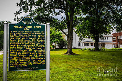 Photograph - Miller Farm Sign And Home by Grace Grogan