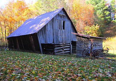 Photograph - Miller Farmstead Barn by Cynthia  Clark