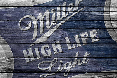 Handcrafted Photograph - Miller High Life by Joe Hamilton