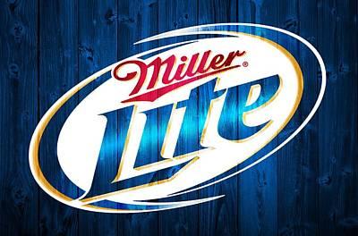 Beer Digital Art - Miller Lite Barn Door by Dan Sproul