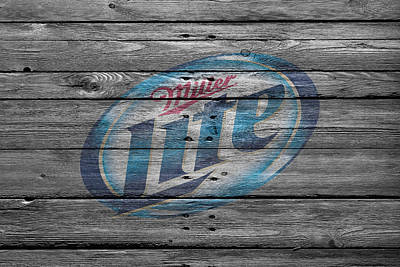 Handcrafted Photograph - Miller Lite by Joe Hamilton