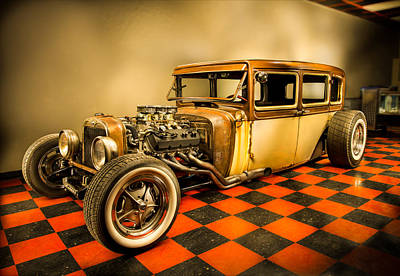August Photograph - Millers Chop Shop 1929 Dodge Victory Six After by Yo Pedro