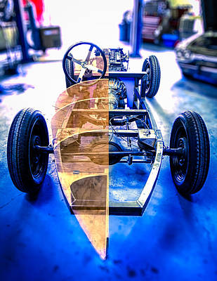 Photograph - Millers Chop Shop Boattail Roadster by Yo Pedro