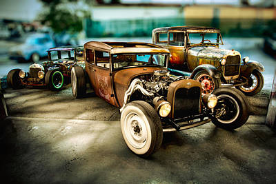 Photograph - Millers Chop Shop Model A Sedans by Yo Pedro