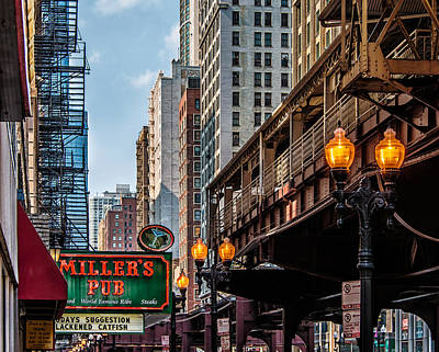 Print featuring the photograph Miller's Pub  by James Howe